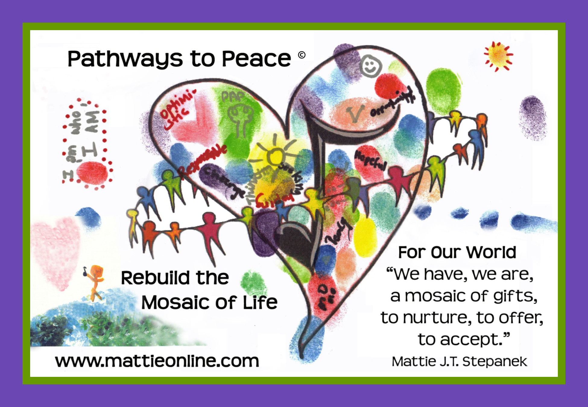 Pathways to Peace blank mosaic