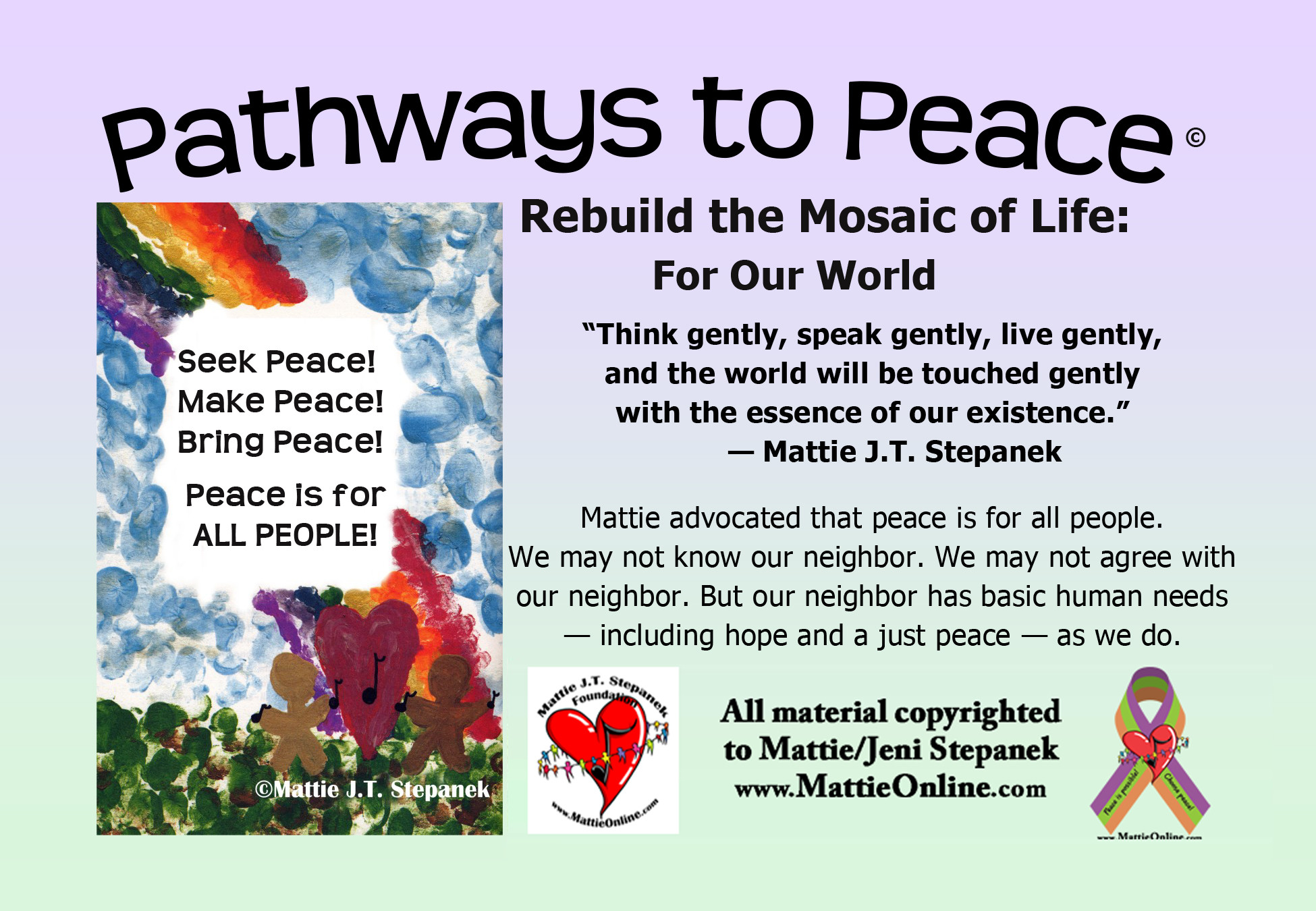 Pathways to Peace rebuild the mosaic