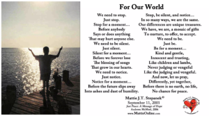 For Our World poem