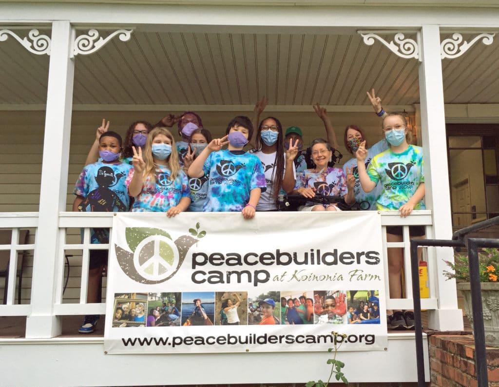campers at Peacebuilders Camp